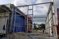Detail montáže ocelových konstrukcí, které dodává Zámečnictví Nováček s.r.o.