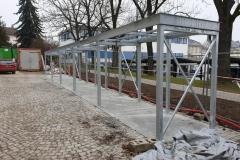 Konstrukce, brány a branky, oplocení. Zámečnictví Nováček dodalo ke stavbě nové auly Vysoké školy polytechnické v Jihlavě i další ocelové prvky a ocelové konstrukce